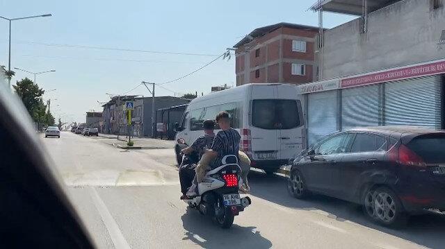 Bursa'da ilginç görüntü: Kurbanı kesime motosikletle götürdüler