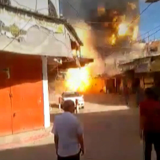 Gazzede bir evde patlama: 1 ölü 10 yaralı