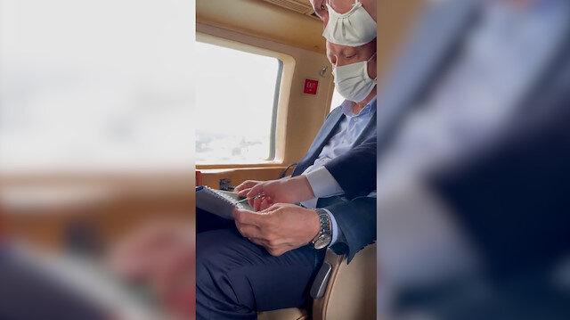 Cumhurbaşkanı Erdoğan Artvin ve Rize'deki sel sonrası Bakan Karaismailoğlu'ndan bilgi aldı
