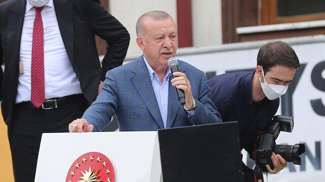 Cumhurbaşkanı Erdoğan sel bölgesinde konuştu: İlk etapta Rize genelinde toplam 550 konut inşa edeceğiz