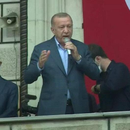 Cumhurbaşkanı Erdoğan sel felaketinin yaşandığı Artvinde konuştu: Ödemeler en kısa sürede yapılacak