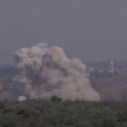 Esad rejimine destek veren Rus savaş uçakları İdlibte art arda hava saldırısı düzenledi