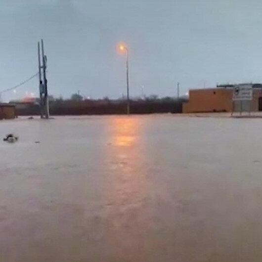Suudi Arabistanın Cizan kentinde aşırı yağışlar sele sebep oldu
