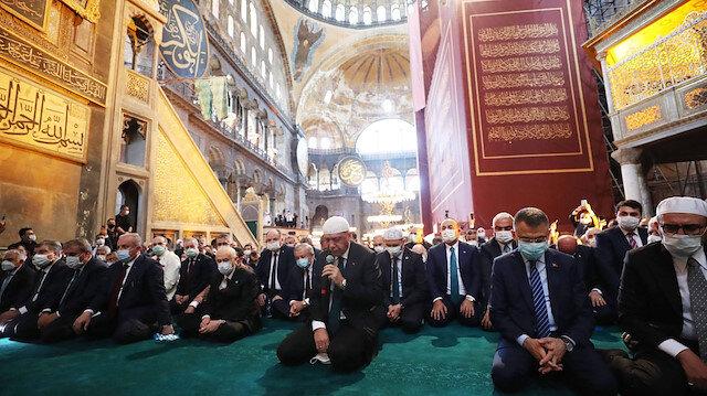 Cumhurbaşkanı Erdoğan'dan Ayasofya mesajı: Ezan sesleri kıyamete kadar eksik olmayacak