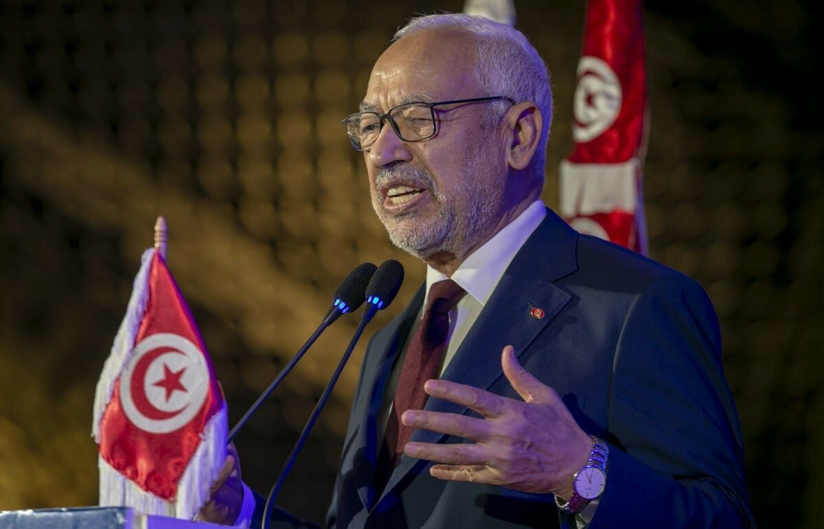 Nahda Hareketi'nin lideri Raşid el-Gannuşi.