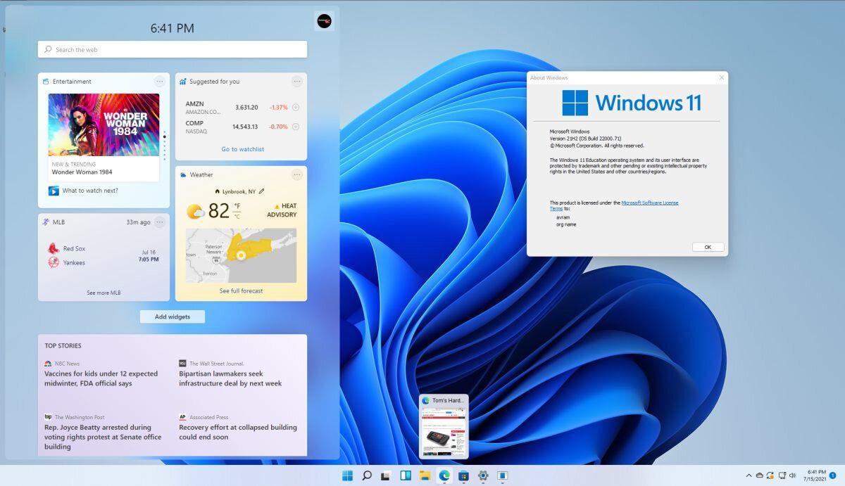 Windows 11'deki araç çubukları bu sayede hızlı bir şekilde güncellenebiliyor.