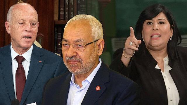 Tunus'taki darbeye açıktan destek veren tek isim: Mısır-BAE lobisinin sözcüsü Özgür Anayasa Partisi'nin lideri Abir Musa