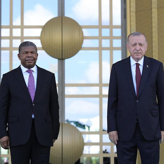 Angola Cumhurbaşkanı Türkiye'de: Cumhurbaşkanı Erdoğan karşıladı