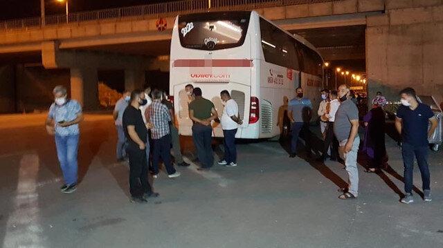 Koronavirüslü yolcu şehirlerarası otobüste yakalandı