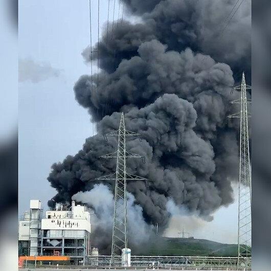Almanyada ilaç fabrikasındaki patlama sonrası ilk görüntüler