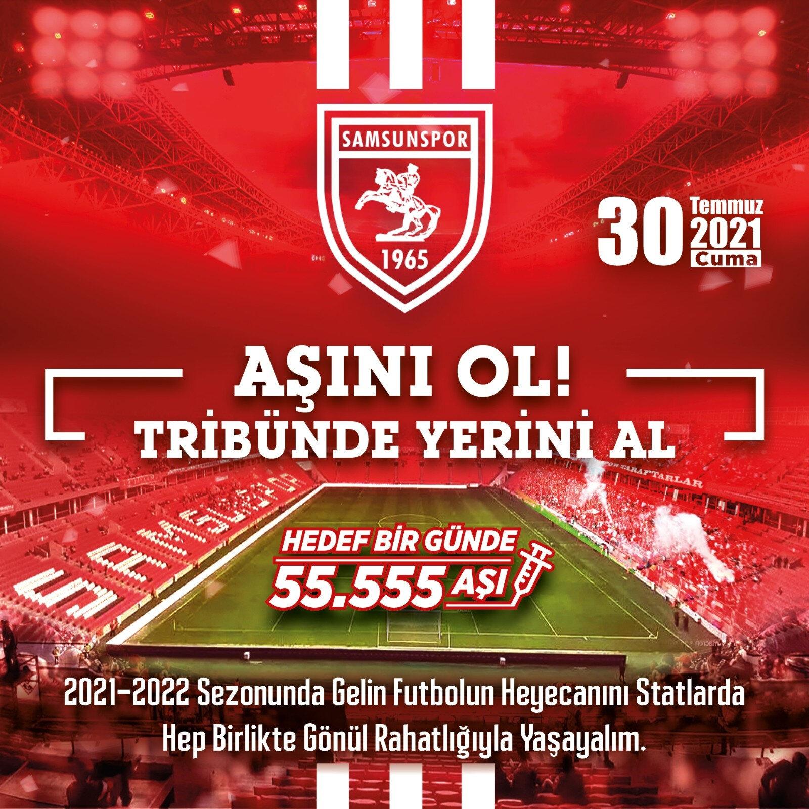 Kampanya kapsamanda 20 adet Samsunspor forması hediye edilecek.