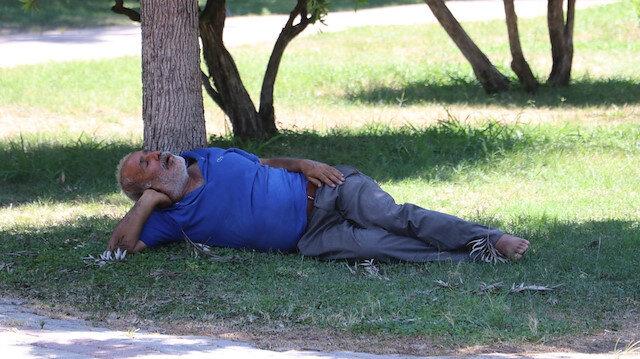 Gölgede uyudu vatandaşlar sıcaktan öldü sandı: Güneşe çıkamıyoruz gölgede pişiyoruz Adana cehennem gibi yanıyor