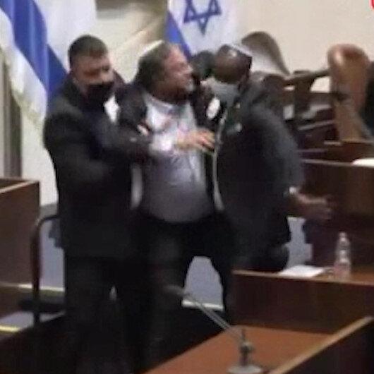 Filistinli milletvekili kendisine terörist diyen İsrailli milletvekilini parlamentodan kovdurdu
