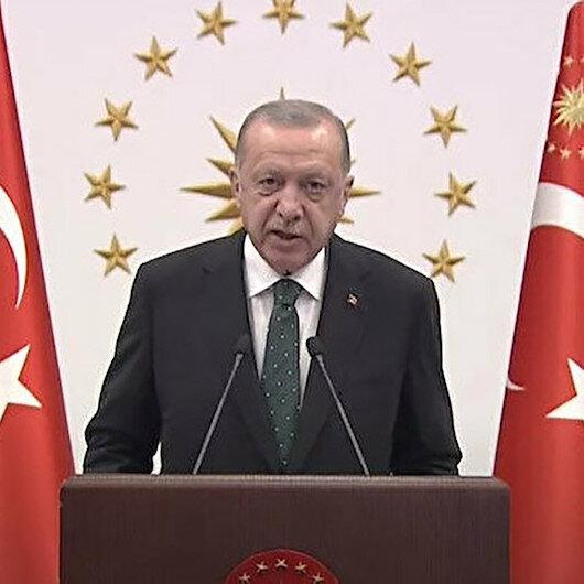 Cumhurbaşkanı Erdoğan: Mesnetsiz iddia sahipleri burada yanan ateşe iyi baksınlar