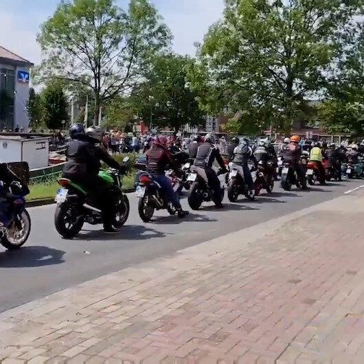 Kanser hastası küçük çocukları için sosyal medyadan çağrı yapan aileye 15 bin motosikletli destek oldu