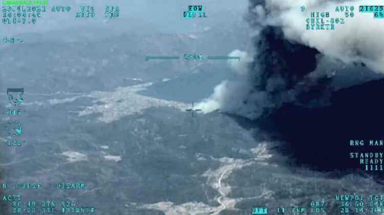 İHA, Marmaris'te yangın söndürme çalışmalarına katılıyor.