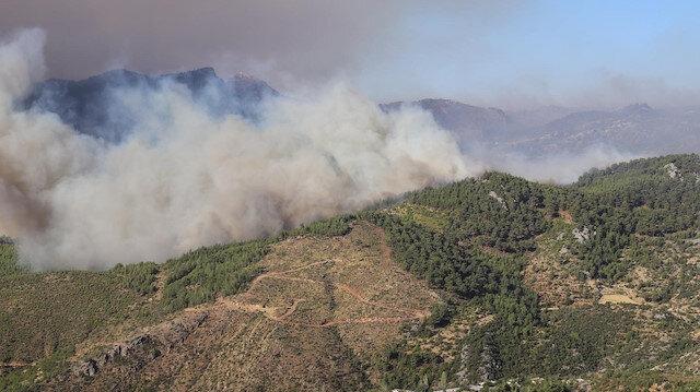 Mersin Aydıncık'taki orman yangını ikinci gününde: Yerleşim yerleri tehdit altında