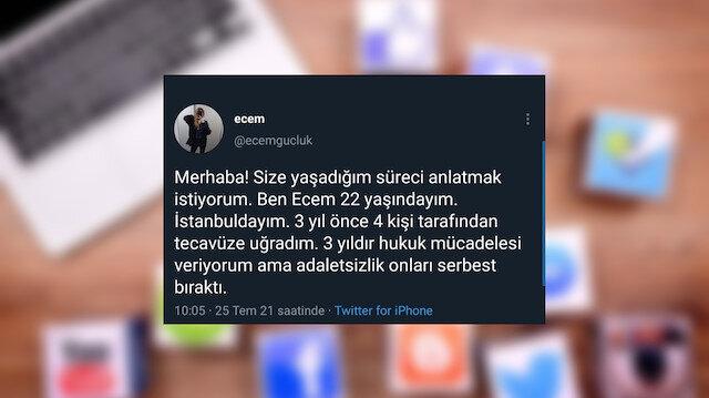 Sosyal medya yalanlarında bugün: Tecavüze uğradığını söyleyen Ecem Güçlük'ün erkek olduğu ortaya çıktı
