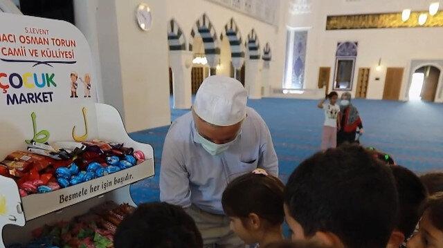 İmamın kurduğu 'Çocuk Market' çocuklara camiyi sevdiriyor