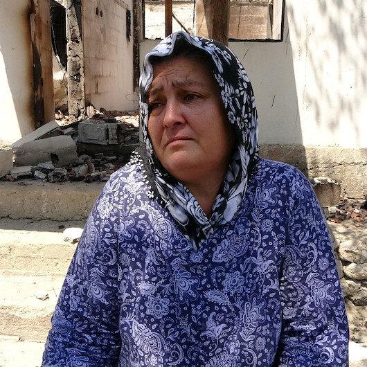 Osmaniye'de evi yanan kadın: Tüm kışlık yiyeceklerim ve evim yandı canımızı zor kurtardık