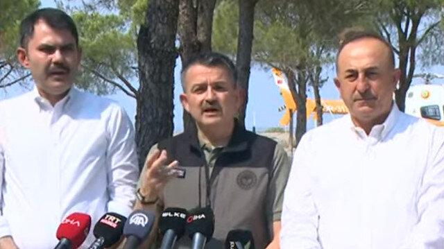 Tarım ve Orman Bakanı Pakdemirli: Şu anda aktif olan yangınlarda iyiye gidiş var