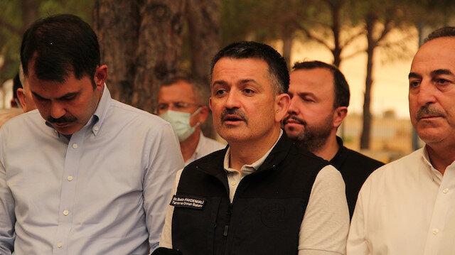 Tarım ve Orman Bakanı Pakdemirli: 57 yangın kontrol altına alındı