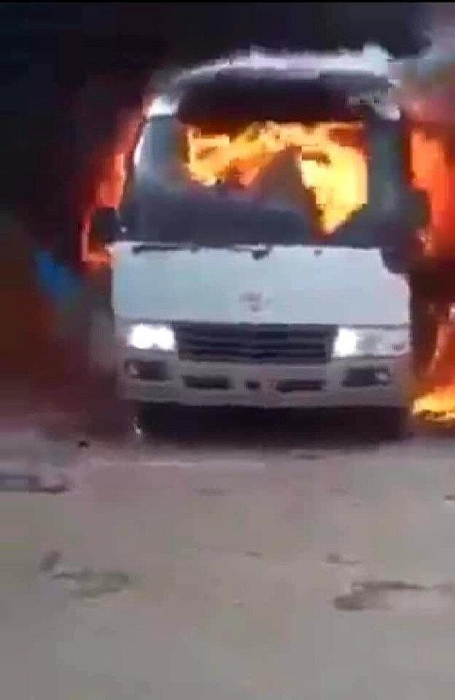 Takım otobüsüne bombalı saldırı düzenlendi