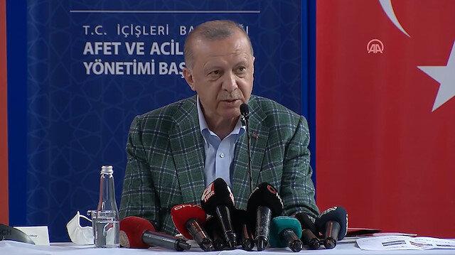 Cumhurbaşkanı Erdoğan: Acil ihtiyaçların giderilmesi için 50 milyon ödenek sağlandı