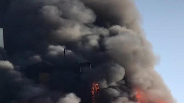 Ankara'da bir otelin çatısında yangın çıktı