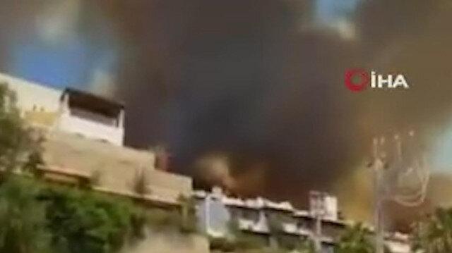 Bodrum'da yangın devam ediyor: Bazı ev ve oteller tahliye edildi
