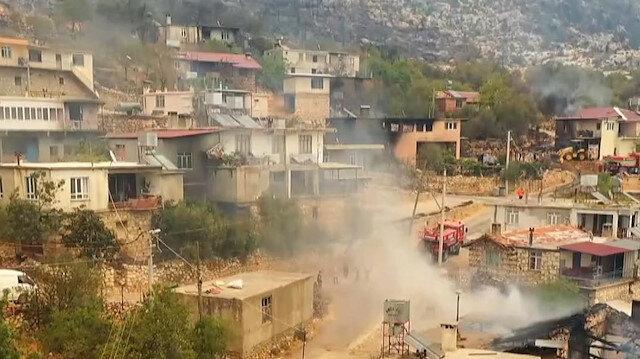 Orman işçilerinin şehit olduğu Gebece Mahallesi'ndeki tahribat havadan görüntülendi