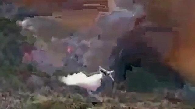 Yangın söndürme uçağının nokta atışı müdahalesi vatandaşları sevindirdi
