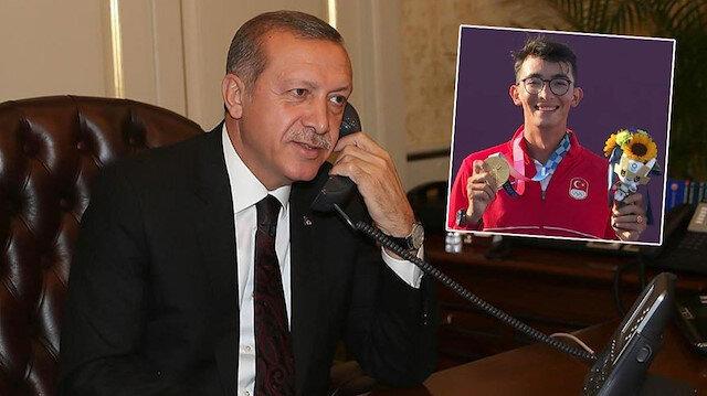 Cumhurbaşkanı Erdoğan Mete Gazoz'u arayarak tebrik etti: Bir tarihi ayağa kaldırdın