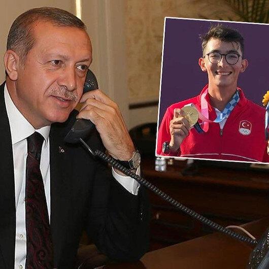 Cumhurbaşkanı Erdoğan Mete Gazozu arayarak tebrik etti: Bir tarihi ayağa kaldırdın