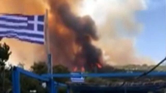 Yunanistan'da yangın alarmı: 110 çocuğun bulunduğu tatil kampı tahliye edildi
