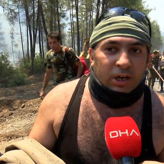 Azerbaycan yangın söndürme ekipleri: Biz biliyoruz ki Azerbaycanda yangın başlarsa Türkiyenin uçakları itfaiyeleri orada olur
