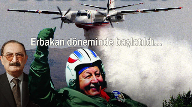 Türkiye'nin ilk yangın söndürme uçağının hikayesi: Erbakan döneminde başlayan proje Ecevit koalisyonunda rafa kaldırıldı