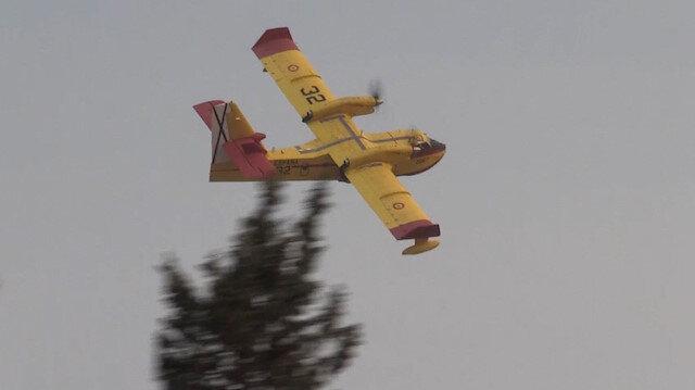 İspanya'dan gelen yangın söndürme uçakları Muğla'da göreve başladı