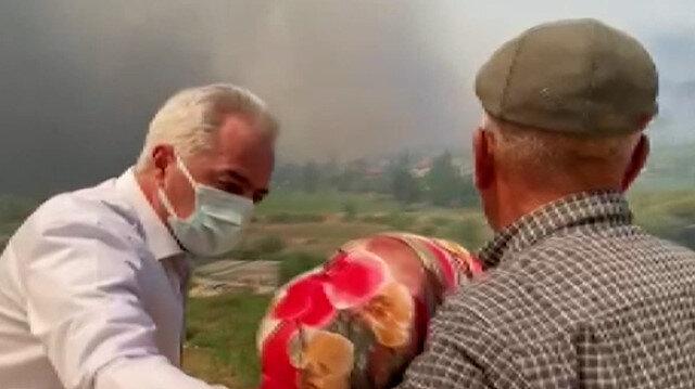 Isparta'da evi yanan kadın gözyaşlarına boğuldu