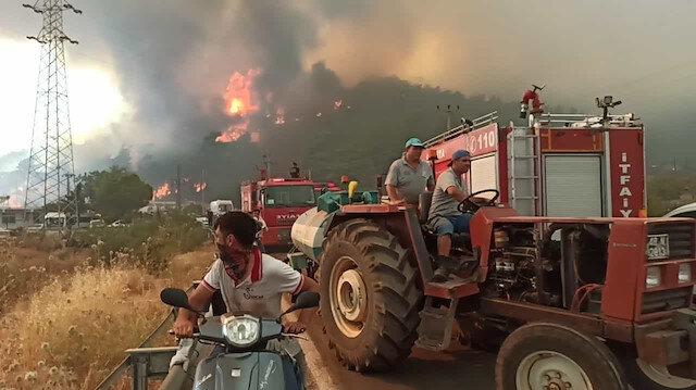 Marmaris yangınında beşinci gün: Hisarönü tahliye edildi