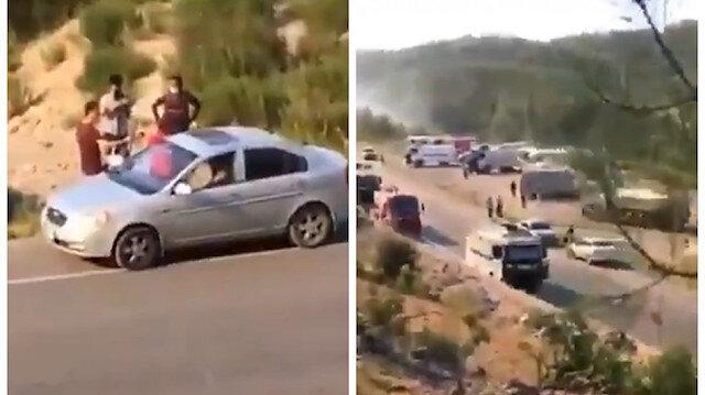Yangın bölgesinde önlem alınmadığını söyleyen kadını o sırada çekim yapan vatandaş yalanladı