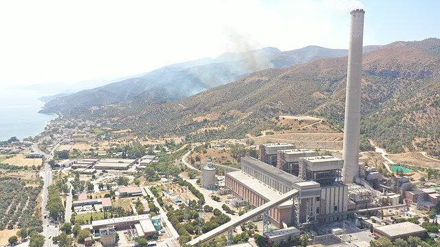Alevler santrale yaklaştı