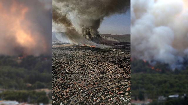 Alevler Atina'ya dayandı: Evler tahliye ediliyor