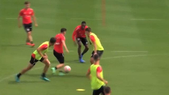 Ömer Faruk Beyaz'ın attığı gol antrenmana damga vurdu