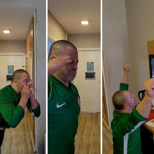 Özel sporcunun Busenazın olimpiyat şampiyonluğu sonrası duygulandıran sevinci