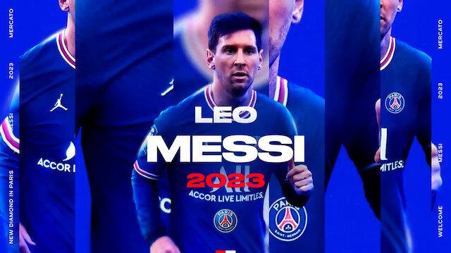 PSG Messi transferini paylaştığı videoyla duyurdu