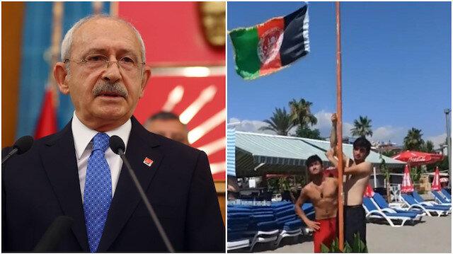 Valilik gerçeği açıkladı Kılıçdaroğlu görmezden geldi: Göndere Afgan bayrağı çekildi