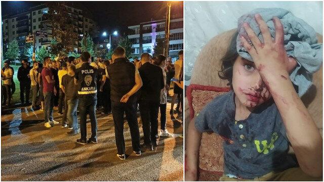 Altındağ'da büyük provokasyon: Yabancı uyruklulara saldırıp polis aracını taşladılar