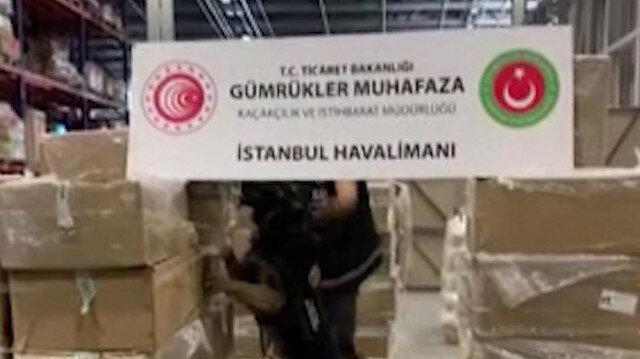 İstanbul Havalimanı'nda büyük operasyon: Uyuşturucu yapımında kullanılan 4,3 ton madde ele geçirildi