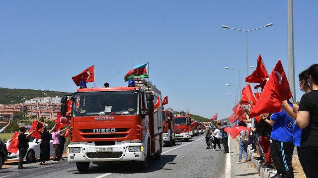 Görev tamam: Gardaş 'alev savaşçıları' Azerbaycan'a alkış ve dualarla uğurlandı